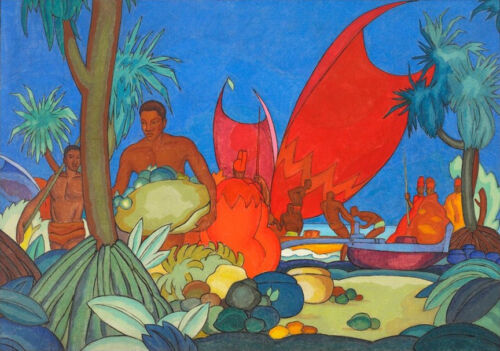 Red Sails   by Arman Manookian Paper Print Repro
