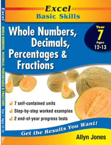NEW Excel BASIC SKILLS-FRACTIONS,DECIMALS AND PERCENTAGES YEARS 3-6 978186441290