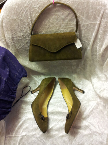 Stunning Designer Suede Shoes & Matching Bag. New with tags.