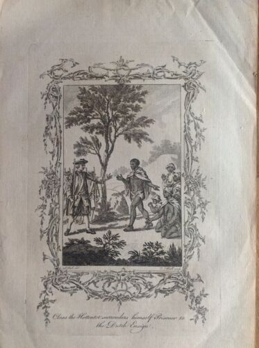 Claas Black-Rumped Si Give up Prisoner Etching 1790 Geographical Dictionary