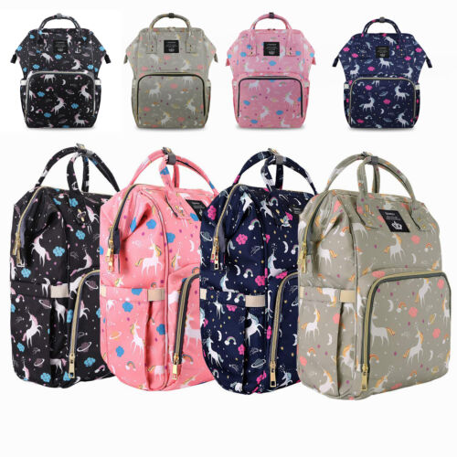 LEQUEEN   Mummy Unicorn Diaper Bag Backpack Maternity Nappy Bags