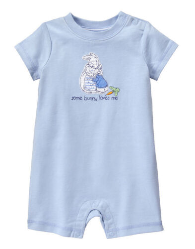 NWT Gymboree Peter Rabbit Romper 0 3 6 12 18 24mo Baby Boy Some bunny loves me