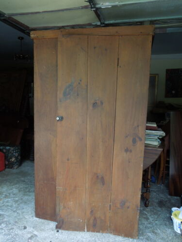 "19th c Pine Cupboard, Maybe Shaker, 74""H"