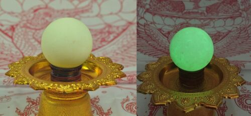 Moon shine Night Pearl Thai Amulet Buddha Luminous Fluorescent Sea Ghost Stone 2