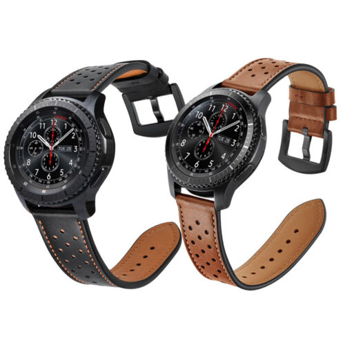For Samsung Gear S3 Frontier / Classic Watch Genuine Leather Wrist Band Strap