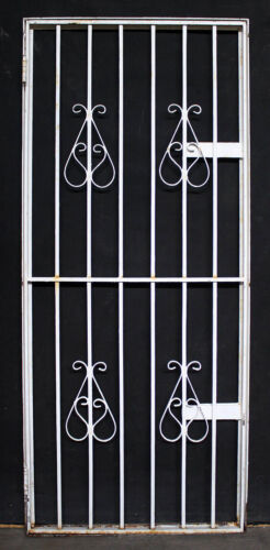 "2avail 30""x71"" Vintage Antique Steel Metal Gate Exterior Storm Screen Door Frame"