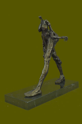 Handcrafted A tribute to Dali Exaggerated Female Form Bronze Sculpture Statue