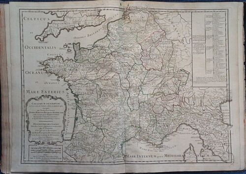 antique map FRANCIA - GALLIARUM DESCRIPTIO  Gilles Robert de Vaugondy 1738
