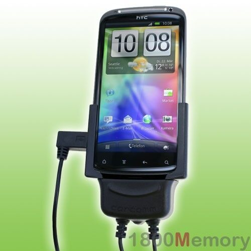 Carcomm Power Cradle for HTC Sensation / XE Car Charger Kit with Antenna Coupler
