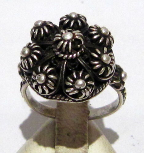 AMAZING POST-MEDIEVAL SILVER RING WITH BEAUTIFUL FILIGREE  # 395