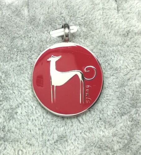 316L Stainless Steel & Enamel Greyhound Pendant - Assorted colours