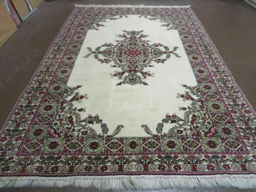 7' X 10' Vintage Hand Made Moroccan Tribal Wool Rug Carpet Medallion Nice