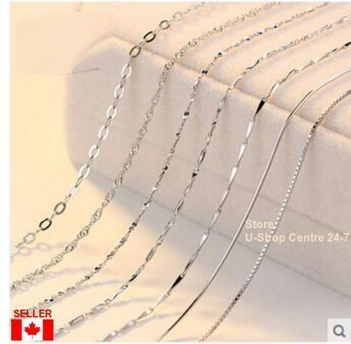 """925 Sterling Silver Quality Jewelry Chain Necklace 1Pc.18 - 30"""",1.2-1.6mm Width"""