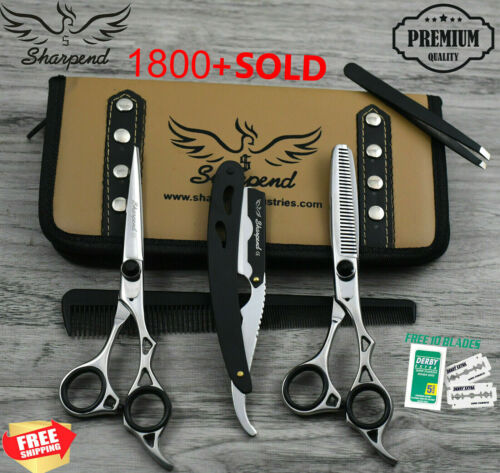 "Professional Barber Hairdressing Scissors & Thinning 6.5"" Set In JAPANESE STEEL"