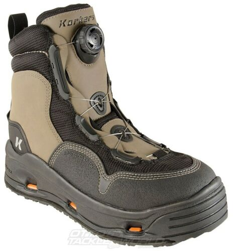 Korkers White Horse Boots With Felt And Vibram Soles BRAND NEW @ Ottos Tackle Wo