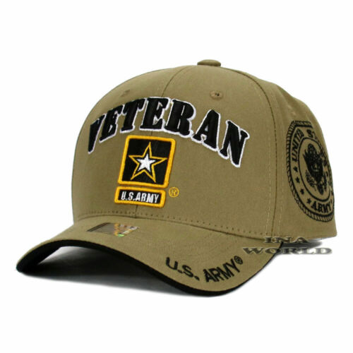 a6a9a5ef54446 U.S. ARMY hat Military VETERAN ARMY STRONG Licensed Baseball cap- Khaki  Beige