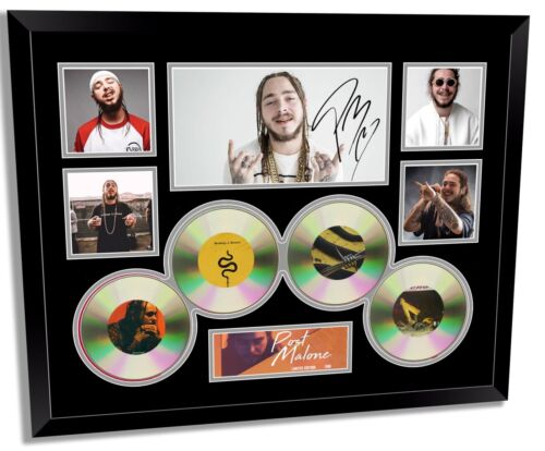 POST MALONE SIGNED LIMITED EDITION FRAMED MEMORABILIA