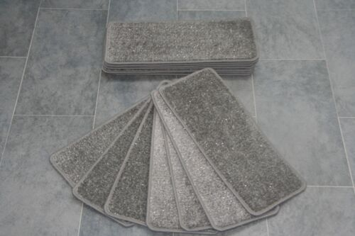 14 Grey Glitter Carpet Stair Treads Stain Free Grey Sparkle Pads! 14 Large Pads
