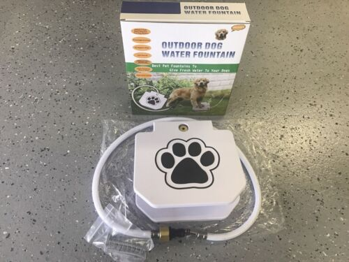 Outdoor Dog Pet Drinking Water Fountain with Extra Load Spring Trouble Free New
