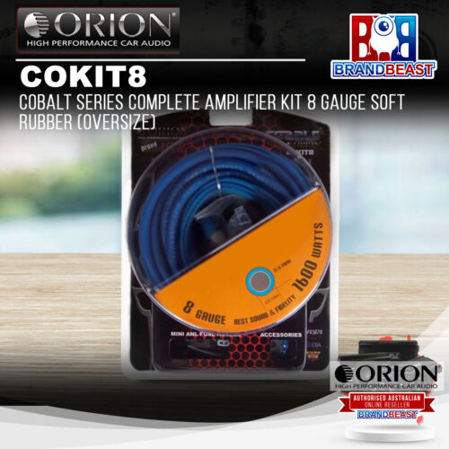 Orion COKIT8 8 Gauge Amp Kit Amplifier Install 8 Ga Installation Cables 1200W