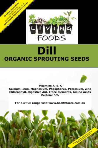 Dill Oragnic Sprouting Seeds