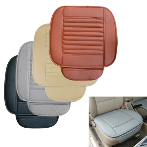 3Pcs Car Front Rear Back Seat Cover Breathable PU Leather Auto Cushion Pad Mat