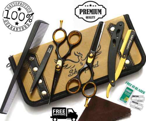 "5.5"" Professional Cutting Thinning Hairdressing Hair Barber Salon Scissors AU"