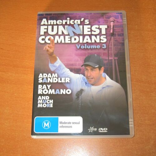 AMERICA'S FUNNIEST COMEDIANS - VOLUME 3 ( DVD , REGION 4 ) ADAM SANDLER ~ AS NEW