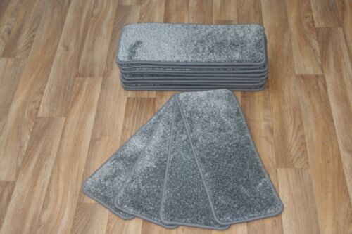 14 Carpet Stair Case Treads Vivace Grey 308 Saxony Large Pads Stair Pads