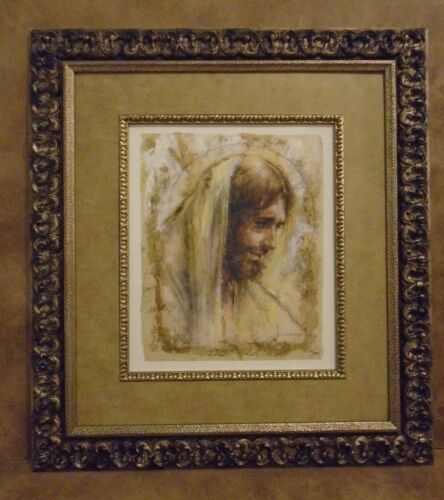 """TOM DUBOIS FRAMED """"JESUS"""" - Giclee on Paper with Gold Foil LIMITED EDITION"""