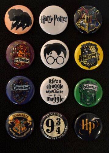 Harry Potter - 1 Inch Buttons - Set of 12