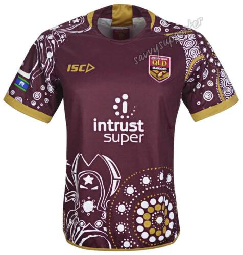 f90734e4dfa QLD Maroons State of Origin 2018 NRL Indigenous Jersey Mens and Kids Sizes  BNWT