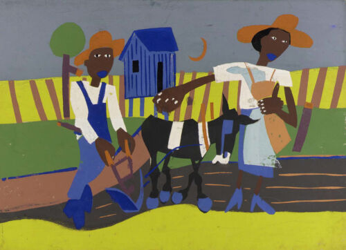 Sowing by William H Johnson   Giclee Canvas Print Repro