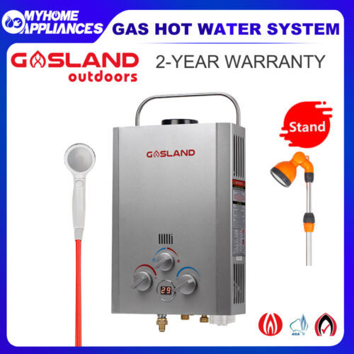 GASLAND - PRO Portable Gas Hot Water Heater LPG Outdoors Camping Shower Caravan <br/> 10% Off with Code at Checkout PADDLE, T&Cs apply