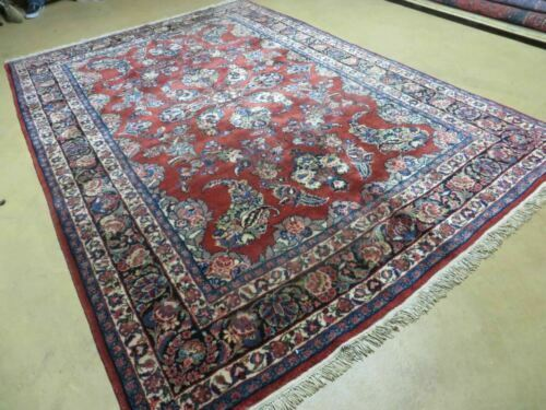6' X 9' Antique 1940s Hand Made Persian Sarouk Mahal KAZEMI Wool Rug Carpet Nice