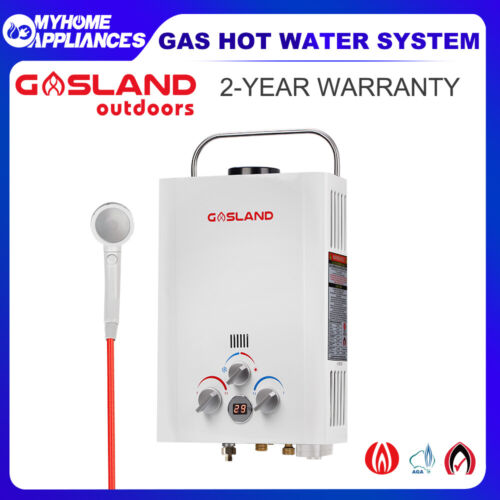 GASLAND Gas Hot Water Heater - Portable Shower Camping LPG Gas Instant Caravan  <br/> AGA Gas Regulator, Shower Head, Safe & Easy to Use!