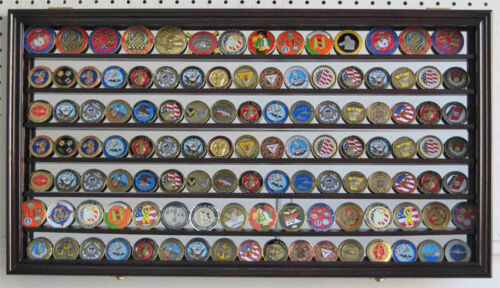 Challenge Coin Medal Display Case Wall Shadow Box Cabinet, Mirror Back, COIN4-MAChallenge Coins - 74710