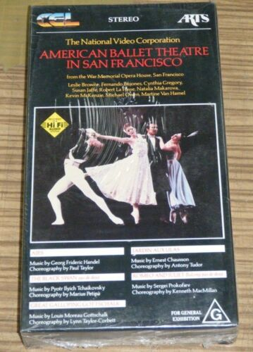 Sealed VHS Movie - American Ballet Theatre in San Francisco