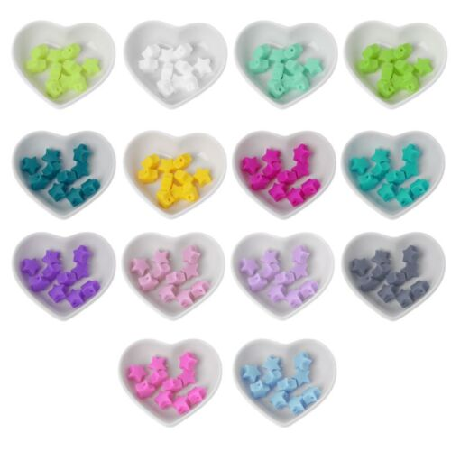 10 Pcs Star Silicone Beads Baby Teething Beads DIY Pacifier Chain Baby Teether