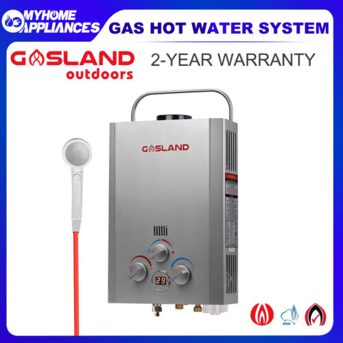 GASLAND PRO Portable Gas Hot Water Heater Camping Shower Caravan LPG Outdoors <br/> 10% Off with Code at Checkout PADDLE, T&Cs apply