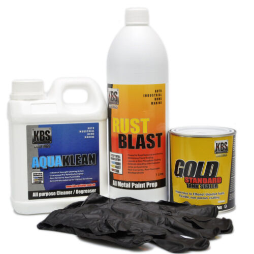 Motorcycle Fuel Tank Sealer Repair Kit KBS - Stop Rust and Corrosion - Motorbike