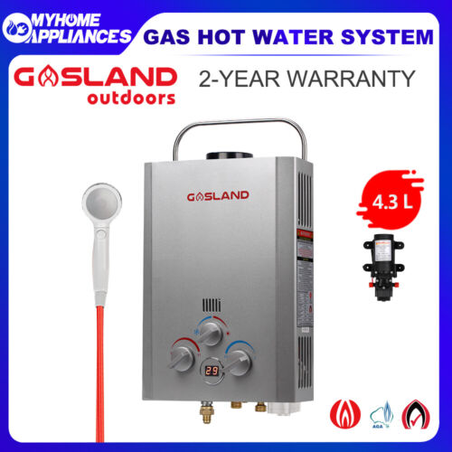 GASLAND LPG PRO Portable Gas Hot Water Heater Outdoors Camping Shower Caravan  <br/> 10% Off with Code at Checkout PADDLE, T&Cs apply