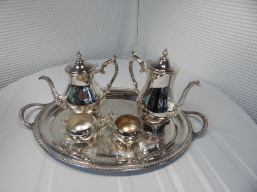 Vintage! 5Pc. Wm. Rogers Silverplate Tea Set