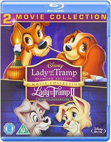 Lady and the Tramp 1 and 2 [Blu-ray] [1955] [Region Free] [DVD][Region 2]