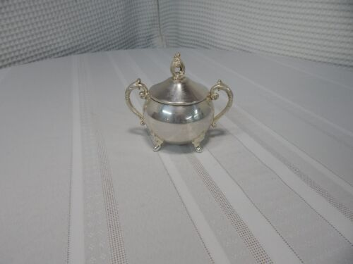 Vintage! Pilgrim Silver Co. Footed Silverplate Sugar Dish