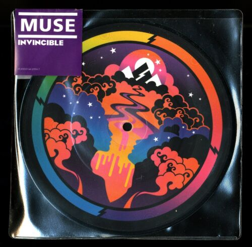 """VINYLE 45 TOURS ★ MUSE - INVINCIBLE / GLORIOUS ★ 7"""" PICTURE DISC RECORDS LIMITED"""
