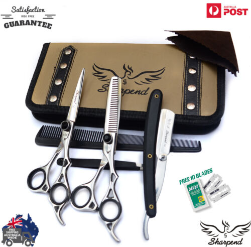 """Pro SHARPEND 6.5"""" Barber Hair Cutting Thinning Scissors Shears Hairdressing"""