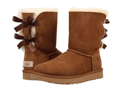 NEW WOMEN BOOT UGG 2019 BAILEY BOW II CHESTNUT FREE SHIPPING 1016225