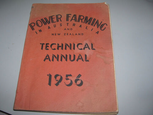 Power Farming In Australia & New Zealand Technical Annual 1956 In Good Condition