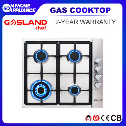 GASLAND chef Gas Cooktop 4 Burners Stainless Steel Wok Burner Cooktop Stove 60CM <br/> 5% Off with Code at Checkout PRESTO